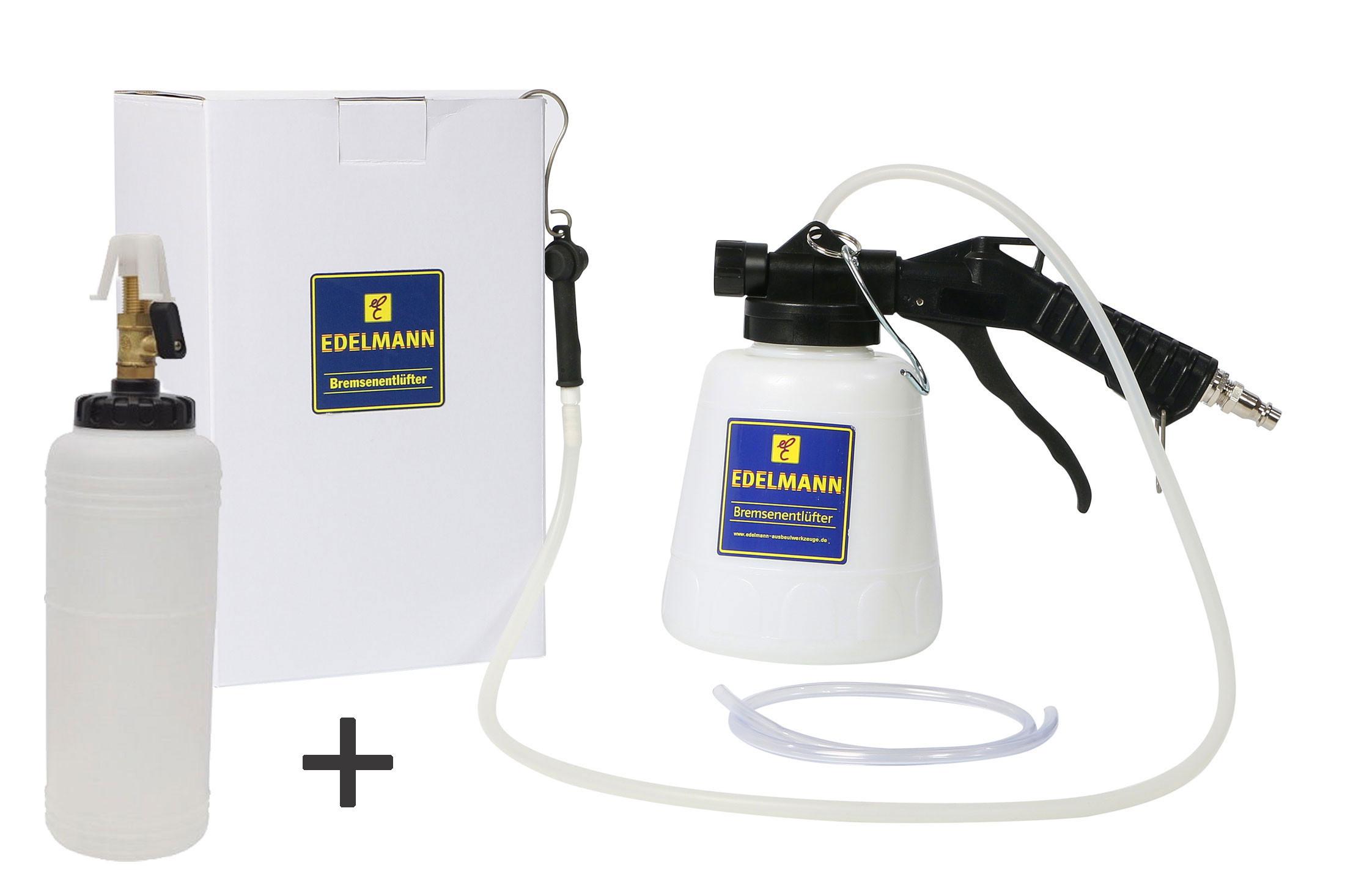 Druckluft Bremsenentlüfter mit Nachfüllflasche