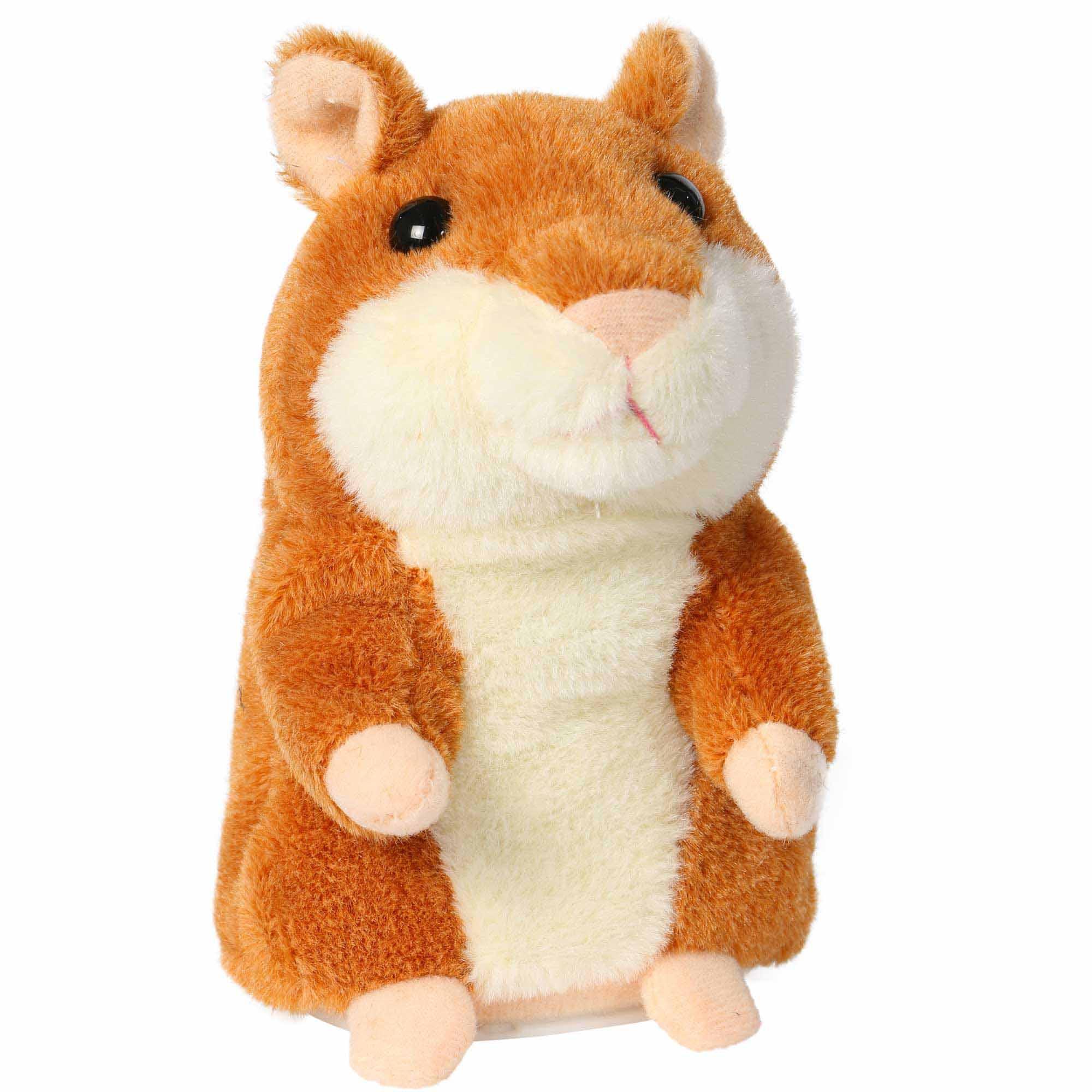 Sprechender Hamster braun, spricht alles nach speaking hamster