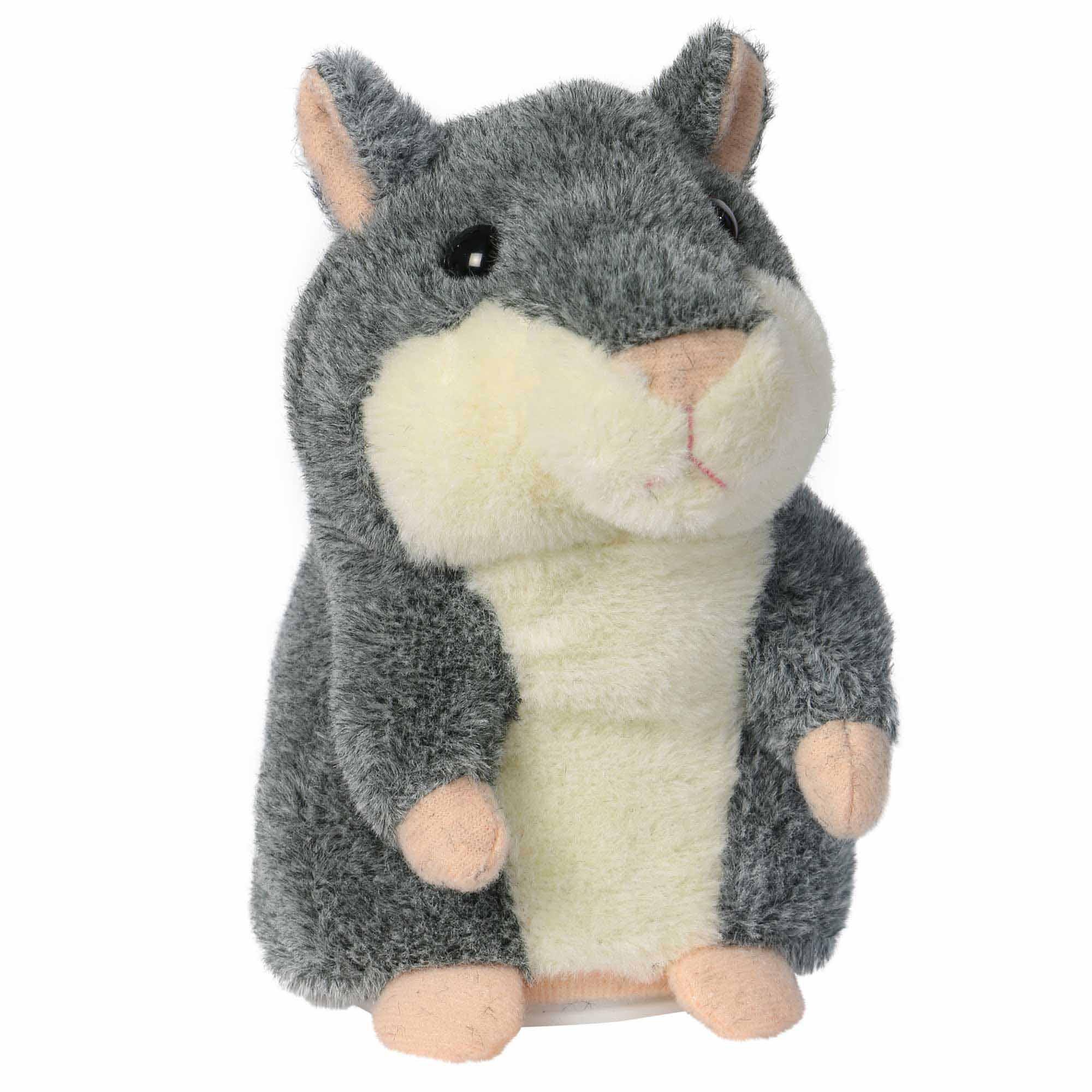 Sprechender Hamster grau, spricht alles nach
