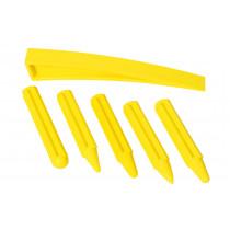 5x Rückschlagdorne + 1 Demontagekeil gelb im Set für Klebetechnik + Hebeltechnik  economy