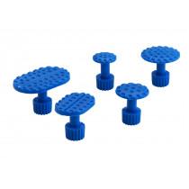5er Set  Zugadapter blau für Klebetechnik Zugadapterset Klebepilze economy